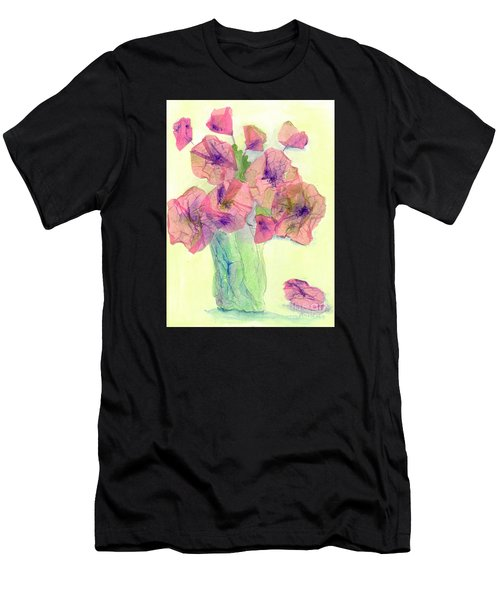 Pink Poppies Men's T-Shirt (Slim Fit) by Veronica Rickard