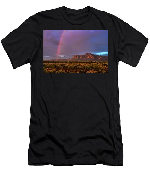Men's T-Shirt (Athletic Fit) featuring the photograph Pink Rainbow  by Saija Lehtonen