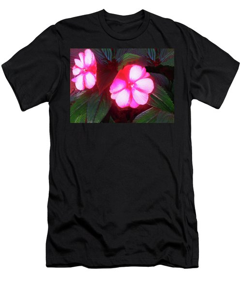 Pink Red Glow Men's T-Shirt (Athletic Fit)