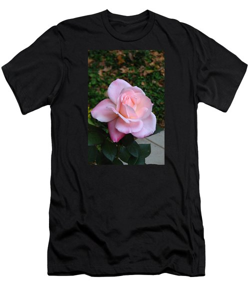 Pink Rose Men's T-Shirt (Slim Fit) by Carla Parris