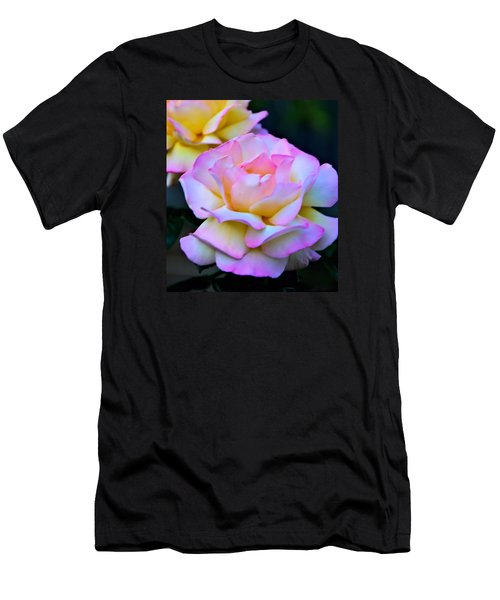 Pink Rose Men's T-Shirt (Slim Fit) by Josephine Buschman