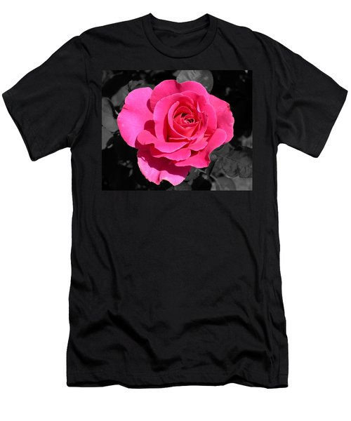 Perfect Pink Rose Men's T-Shirt (Athletic Fit)