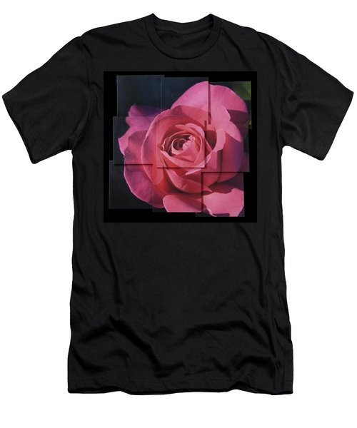 Pink Rose Photo Sculpture Men's T-Shirt (Slim Fit) by Michael Bessler