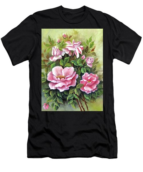 Pink Roses Men's T-Shirt (Athletic Fit)