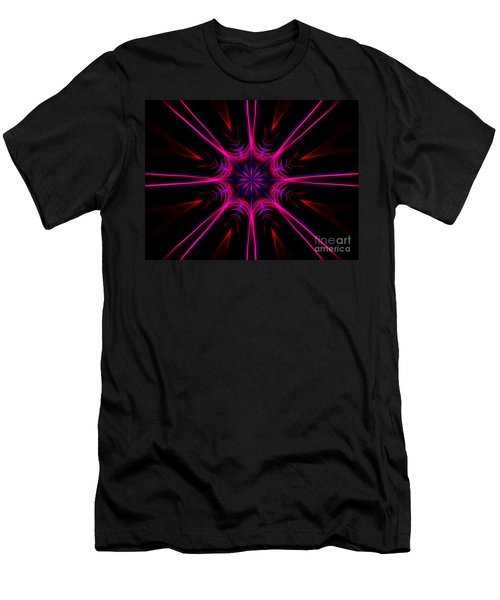 Pink Starburst Fractal  Men's T-Shirt (Athletic Fit)