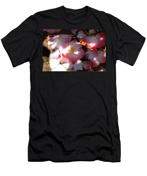 Pink Survivor Men's T-Shirt (Slim Fit) by Dennis Baswell