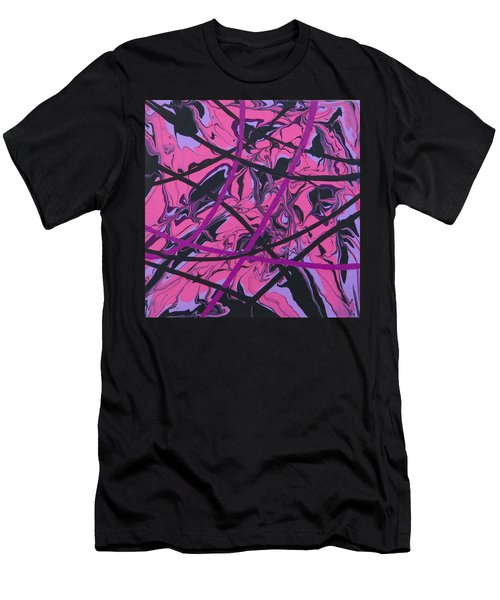 Pink Swirl Men's T-Shirt (Athletic Fit)