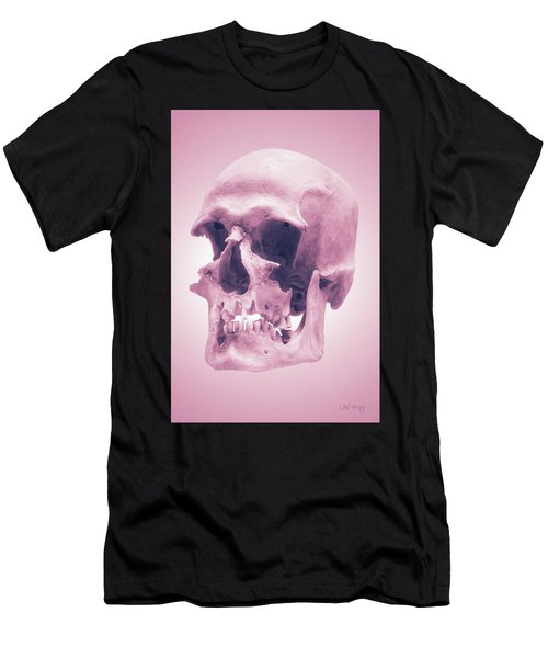 Men's T-Shirt (Slim Fit) featuring the photograph Pink Textures by Joseph Westrupp