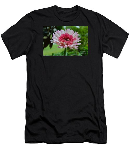 Pink Watermelon Men's T-Shirt (Slim Fit) by Lew Davis