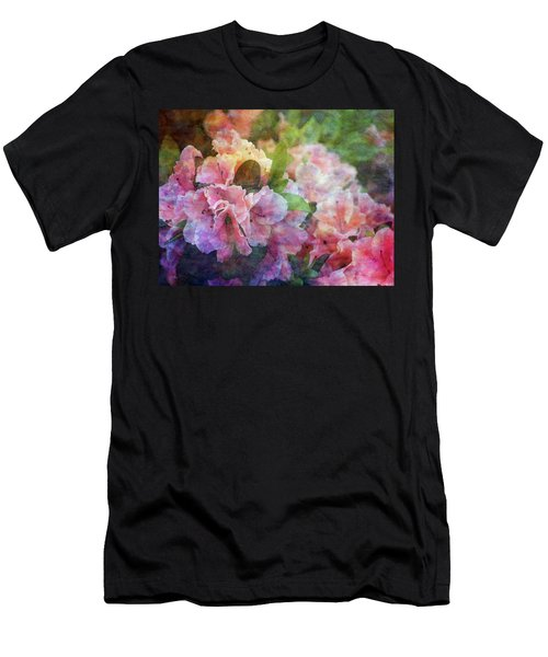 Pink With White Frills 1503 Idp_3 Men's T-Shirt (Athletic Fit)