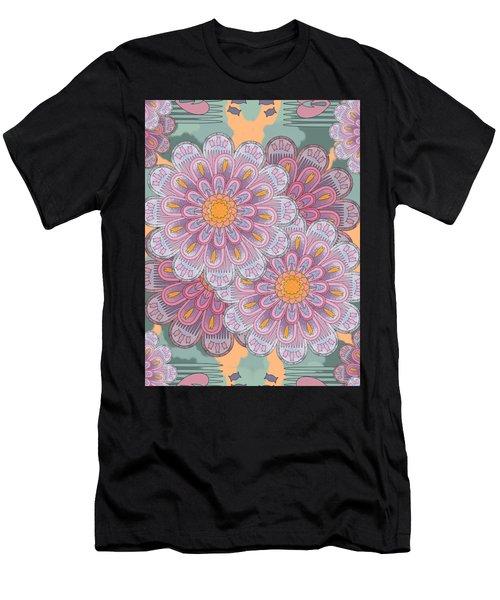 Pink Zinnia Mandala Men's T-Shirt (Athletic Fit)