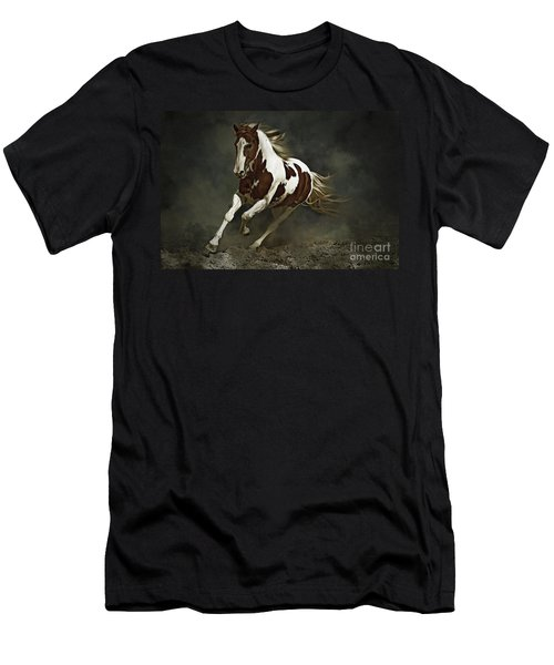 Pinto Horse In Motion Men's T-Shirt (Athletic Fit)