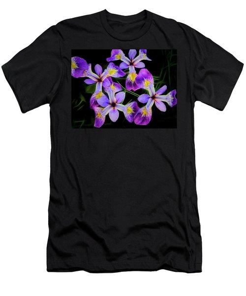 Pinwheel Purple Iris Glow Men's T-Shirt (Athletic Fit)