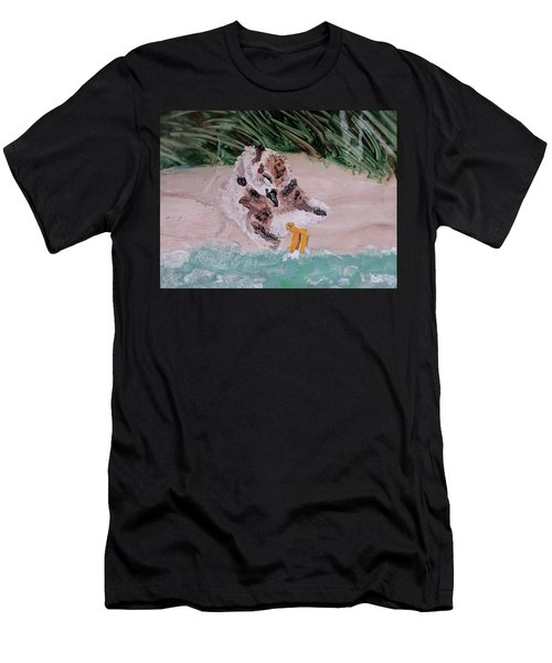Piping Plover Chick 2 Men's T-Shirt (Athletic Fit)