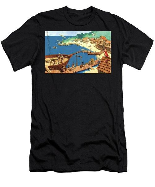 Pirate Port Men's T-Shirt (Athletic Fit)