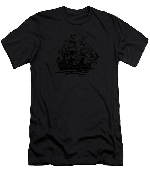 Pirate Ship Artwork - Vintage Men's T-Shirt (Athletic Fit)