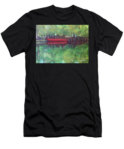 Pirogue On Bayou Lafourche Men's T-Shirt (Athletic Fit)
