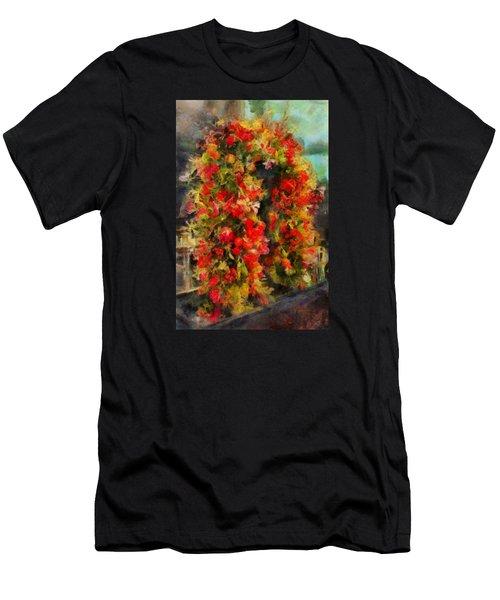 Pi's Flowers 2 Men's T-Shirt (Athletic Fit)
