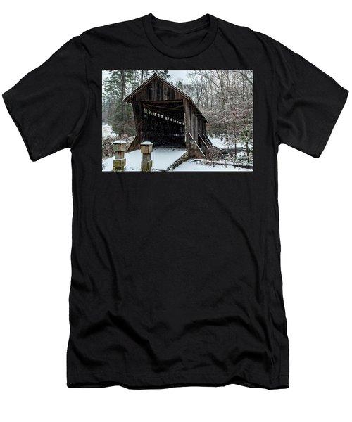 Pisgah Covered Bridge - Modern Men's T-Shirt (Athletic Fit)