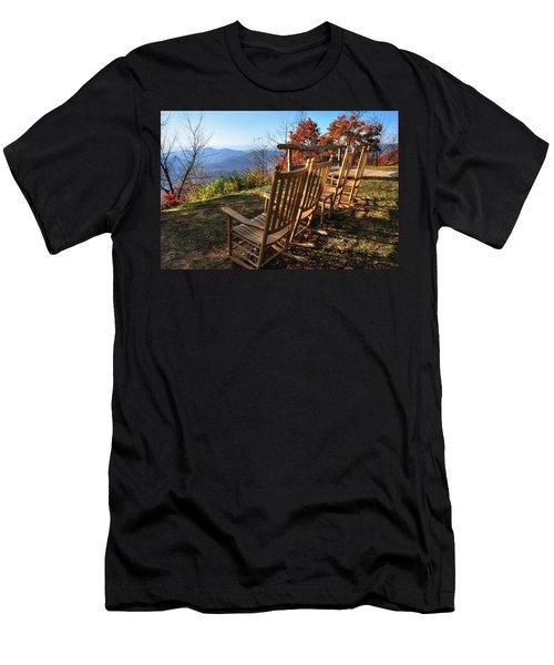 Pisgah Inn's Rocking Chairs Men's T-Shirt (Athletic Fit)
