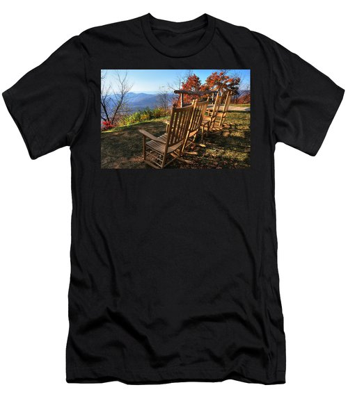 Pisgah Inn's Rocking Chairs Men's T-Shirt (Athletic Fit)