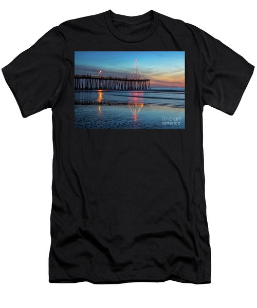 Pismo Pier Lights Men's T-Shirt (Athletic Fit)
