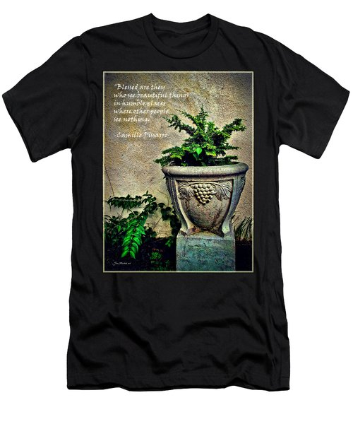Pissarro Inspirational Quote Men's T-Shirt (Athletic Fit)