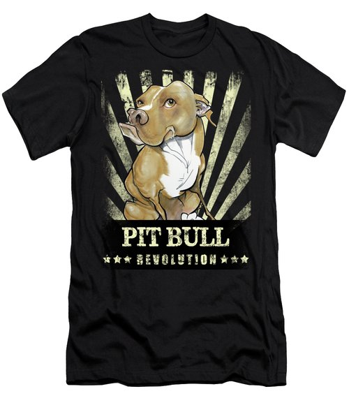 Pit Bull Revolution Men's T-Shirt (Athletic Fit)