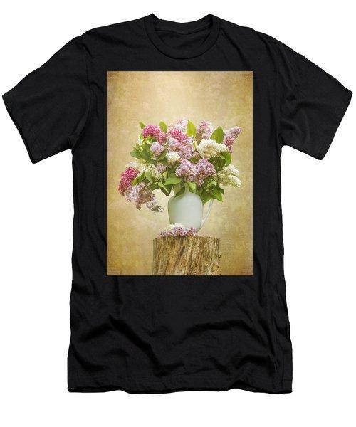 Pitcher Of Lilacs Men's T-Shirt (Athletic Fit)
