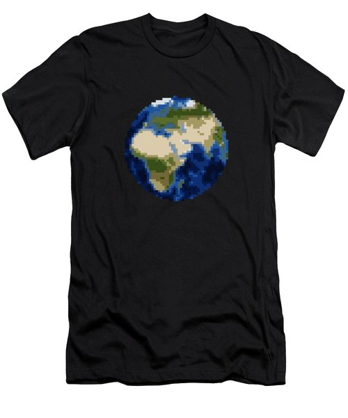 Pixel Earth Design Men's T-Shirt (Athletic Fit)