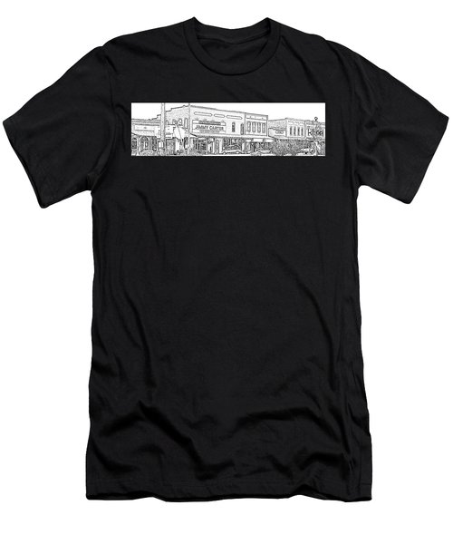Plains Ga Downtown Men's T-Shirt (Athletic Fit)