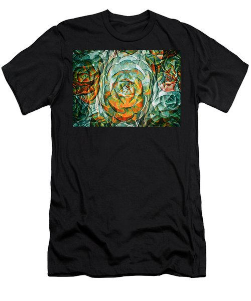 Men's T-Shirt (Slim Fit) featuring the photograph Plant Abstract by Wayne Sherriff