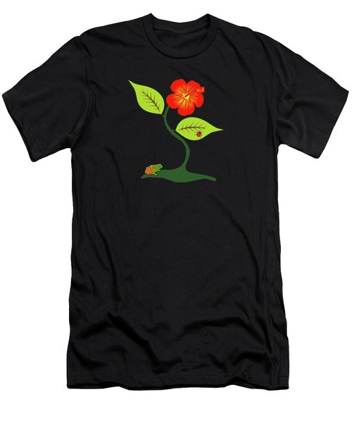 Plant And Flower Men's T-Shirt (Athletic Fit)