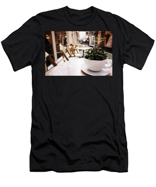 Plant In A Cup In A Cafe Men's T-Shirt (Athletic Fit)