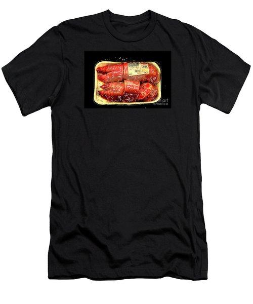 Plasticized..for Your Protection Men's T-Shirt (Slim Fit) by Joe Jake Pratt