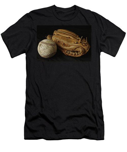 Play Ball Men's T-Shirt (Slim Fit) by Richard Rizzo
