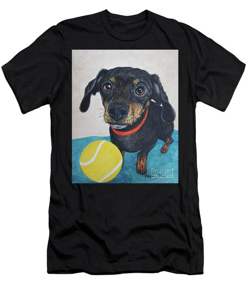 Playful Dachshund Men's T-Shirt (Athletic Fit)
