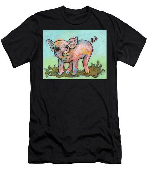 Playful Piglet Men's T-Shirt (Athletic Fit)