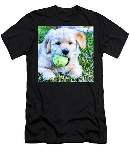 Playful Pup Men's T-Shirt (Athletic Fit)