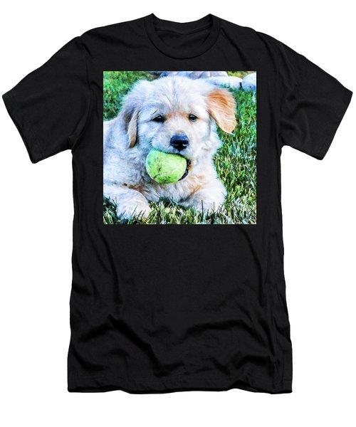 Playful Pup Men's T-Shirt (Athletic Fit)