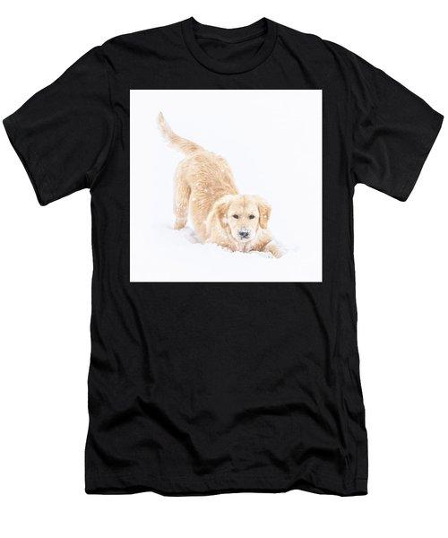 Playful Puppy Men's T-Shirt (Athletic Fit)