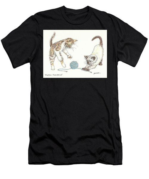 Playful Purrballs Men's T-Shirt (Athletic Fit)