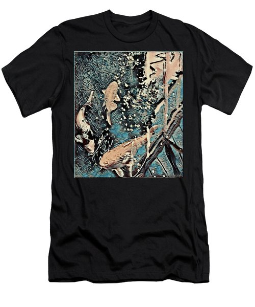 Men's T-Shirt (Slim Fit) featuring the digital art Playing It Koi by Mindy Newman