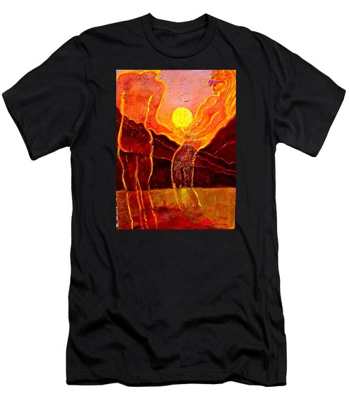 Playing With The Moon Men's T-Shirt (Athletic Fit)