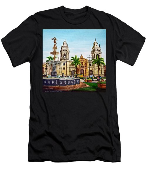 Plaza Armas, Cusco, Peru Men's T-Shirt (Athletic Fit)