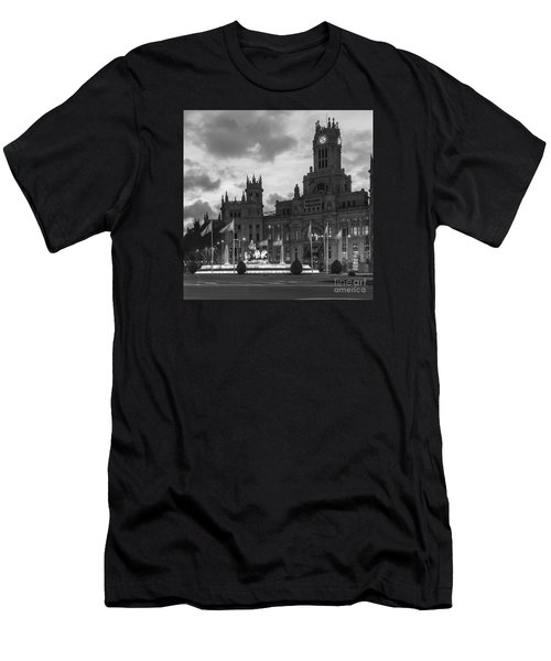 Plaza De Cibeles Fountain Madrid Spain Men's T-Shirt (Athletic Fit)
