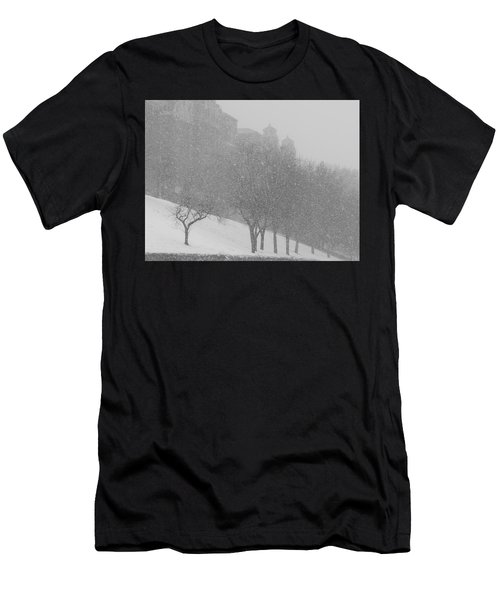 Plaza Impressionism With Kc Snow Men's T-Shirt (Athletic Fit)