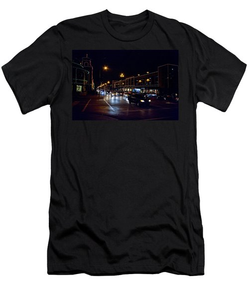 Plaza Lights Men's T-Shirt (Slim Fit) by Jim Mathis