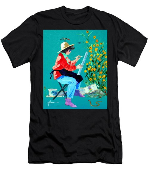 Plein Air Painter  Men's T-Shirt (Athletic Fit)