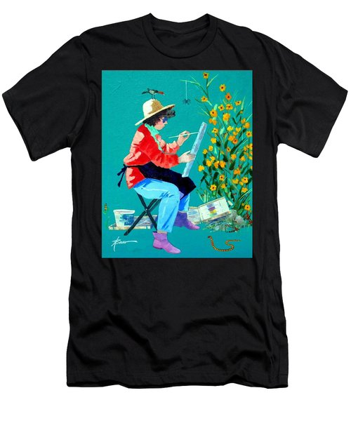 Plein Air Painter  Men's T-Shirt (Athletic Fit)